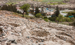 Ruins  in Neolithic village in Cyprus Choirokoitia Stock Photography