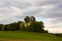 Ruins of Neu-Schauenburg Castle, Frenkendorf. The New Schauenburg is located at the height west of Frenkendorf , close to the Schauenburgflue . The restaurant royalty free stock images