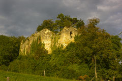 Ruins of Neu-Schauenburg Castle, Frenkendorf. The New Schauenburg is located at the height west of Frenkendorf , close to the Schauenburgflue . The restaurant Stock Photography