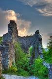 Ruins of Nevitskiy castle Stock Image