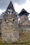 Ruins of Nevitskiy castle near Uzhgorod Royalty Free Stock Photo