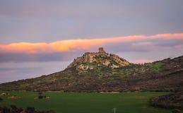 Ruins of New Calatrava Castle near Ciudad Real, Spain Royalty Free Stock Images