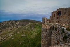 Ruins of New Calatrava Castle near Ciudad Real, Spain Royalty Free Stock Photography