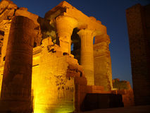 Ruins in the night. The Egyptian ruins in the night Stock Photos