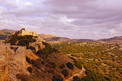 Ruins of the Nimrod fortress Stock Image