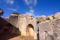 Ruins of the Nimrod fortress Stock Photo