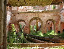The ruins of the noble estate Stock Image