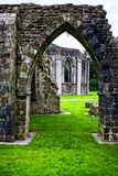 Ruins of the Norman Abbey at Margam Park royalty free stock image