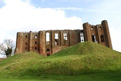Ruins of a Norman castle in Kenilworth, Warwickshire, England, Europe. Stock Photography