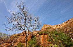 Ruins of the north fort at Badami, India Stock Photos