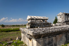 The ruins of the Northem Necropolis of Hierapolis, Turkey Stock Photography