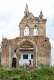 Ruins of Nostra Senora de la Candelaria church at Trinidad Royalty Free Stock Image