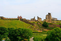 Ruins of the nunnery, Tynemouth, England Royalty Free Stock Image