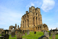 Ruins of the nunnery, Tynemouth, England Stock Image