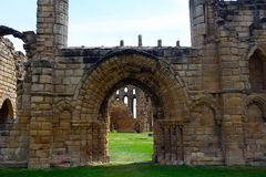 Ruins of the nunnery, Tynemouth, England Royalty Free Stock Photos