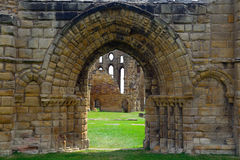 Ruins of the nunnery, Tynemouth, England Stock Images