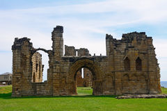 Ruins of the nunnery, Tynemouth, England Royalty Free Stock Photo