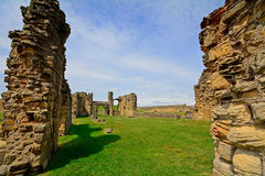 Ruins of the nunnery, Tynemouth, England Stock Photography