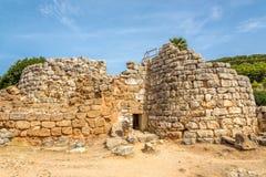 Ruins of nuraghe Palmavera near Alghero Stock Photography