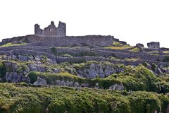 Ruins of O`Brien`s castle on Inisheer, Aran islands, Ireland Stock Photography