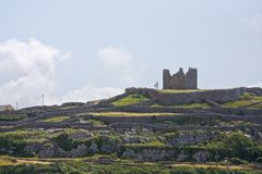 Ruins of O`Brien`s castle on Inisheer, Aran islands, Ireland Stock Image
