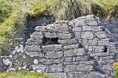 Ruins of O`Brien`s castle on Inisheer, Aran islands, Ireland Royalty Free Stock Images