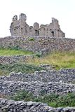 Ruins of O`Brien`s castle on Inisheer, Aran islands, Ireland Royalty Free Stock Image