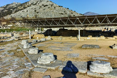 Ruins of octagon church in the archeological area of ancient Philippi, Greece Royalty Free Stock Image