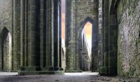 Ruins Of A Cathedral Stock Photography