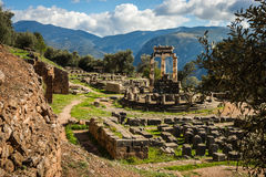 Free Ruins Of An Ancient Greek Temple Of Apollo At Delphi, Greece Royalty Free Stock Images - 81185429