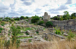 Ruins Of Ancient City Khersones Royalty Free Stock Images
