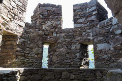 Free Ruins Of Ancient Round Watchtower. Reichenstein Castle, Germa Stock Photos - 80382333