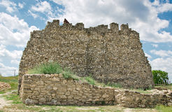 Ruins Of Destroyed Castle Stock Photo