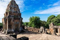 Ruins Of East Mebon Temple, Angkor Area, Siem Reap, Cambodia Stock Photography