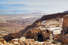 Ruins Of Fortress Masada And View On The Dead Sea Stock Image