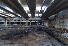 Free Ruins Of Industrial Enterprise Buildings Abandoned Or Destroyed. Stock Photo - 90276030