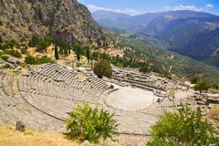 Ruins Of The Ancient City Delphi, Greece Royalty Free Stock Photos