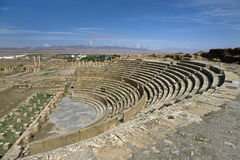 Ruins Of Theatre In Timgad Stock Images