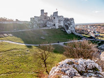 Ruins of Ogrodzieniec castle - Poland Stock Images