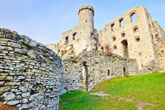 Old ruins Ogrodzieniec Castle Poland Royalty Free Stock Images