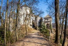 Ruins of Ojcow castle in Poland Royalty Free Stock Photos