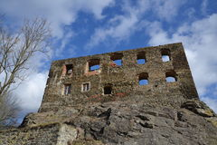Ruins of the Okor castle Royalty Free Stock Photos