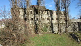 The ruins of the old abandoned building of HQ command of the Turkish army from 1714 Royalty Free Stock Photography