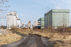 The ruins of an old abandoned factory Stock Photos