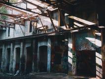 Abandoned warehouse stock image