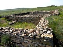 Ruins of the old antic greek town Argamum (Orgame) 4 Royalty Free Stock Image