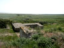 Ruins of the old antic greek town Argamum (Orgame) 6 Stock Photography