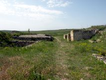 Ruins of the old antic greek town Argamum (Orgame) 3. Argamum (Orgamè, Argamon, Orgame) is an arheological site located in est part of the Tulcea county, near Royalty Free Stock Photos