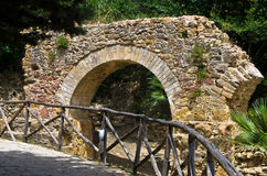 Ruins of old aquaduct near famous roman villa at Piazza Armerina, Sicily Stock Photography