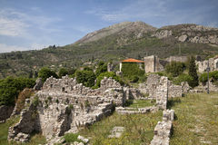 Ruins of Old Bar, Montenegro Royalty Free Stock Photography